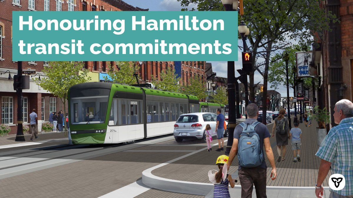 Ontario Urges Federal Government to Fund Updated Hamilton LRT Plan