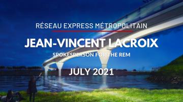 Réseau express métropolitain, Montréal's new transit system, with spokesperson Jean-Vincent Lacroix